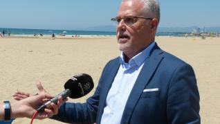 Sensores en Salou para controlar el aforo de las playas.