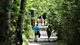 Visitantes en el Parque de Ordesa este sábado.