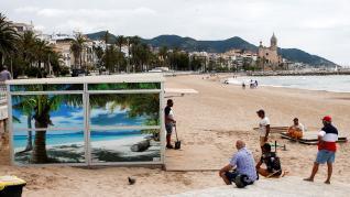 Desescalada en la playa en Sitges (Barcelona)