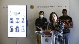 'Pilares Geométricos', de Alfredo León, es el cartel anunciador de las Fiestas del Pilar 2020