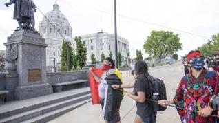 Vandalismo contra estatuas de Colón en EE. UU.