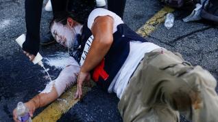 Protestas por la muerte de otro joven negro en Atlanta.