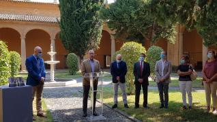 Presentación en el Museo de Huesca de su nueva guía y de tres obras de Carderera con la asistencia del consejero de Cultura Felipe Faci.