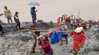 corrimiento de tierras en Birmania