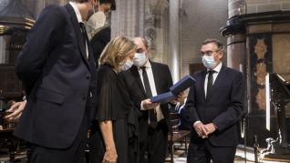 Funeral en la Seo por Santiago Lanzuela y los fallecidos por covid-19 en Aragón.