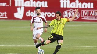 Imágenes del partido disputado este viernes por el Real Zaragoza en el Estadio Carlos Belmonte de Albacete.