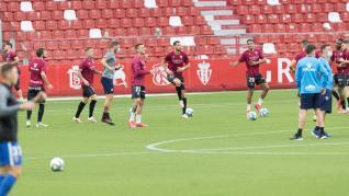 Partido Sporting-SD Huesca, última jornada de Segunda División, en El Molinón de Gijón
