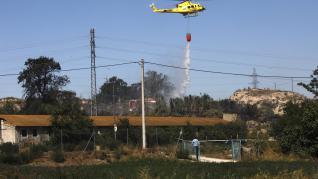 Incendio en el Camino de Enmedio de Zaragoza