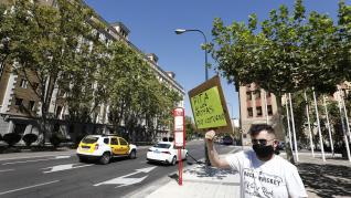 Protesta de los empresarios del ocio nocturno en Zaragoza