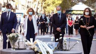 Acto de homenaje a las víctimas del atentado terrorista del 17A de 2017.