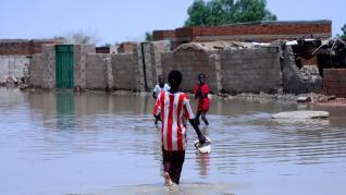 Inundaciones en Sudán, que han causado decenas de muertos.