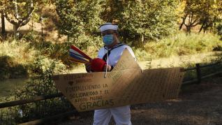"""Bajada del Canal Imperial """"en seco"""" por la pandemia."""