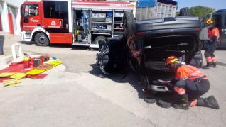 Complicado rescate en La Puebla de Híjar