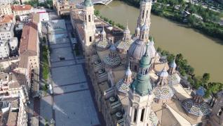 Imágenes de Zaragoza desde un dron de la compañía zaragozana ACG Drone en 2020.