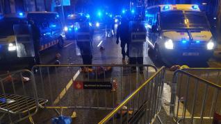 Altercados en Barcelona tras la inhabilitación de Torra