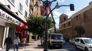 Instalación de las luces de Navidad en Zaragoza capital
