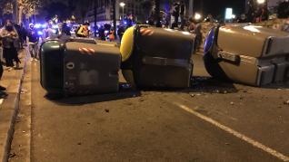 Disturbios en Barcelona un año después de la sentencia del 'procés'.