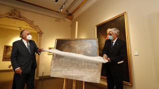 El Museo Goya expone ya en sus salas 'La construcción del templo del Pilar'.