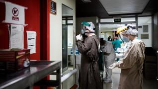 Interior de las unidades de cuidados intensivos del Hospital Clínico de Zaragoza.