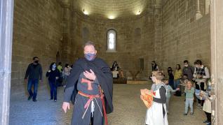 Lección de historia templaria en el castillo de Monzón