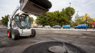 Operación asfalto en varias calles de Zaragoza
