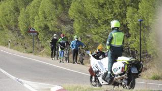 Foto de la quinta etapa de la Vuelta a España entre Huesca y Sabiñánigo