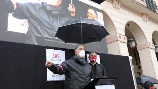 Alrededor de 500 personas han participado en la manifestación de la hostelería de Huesca.