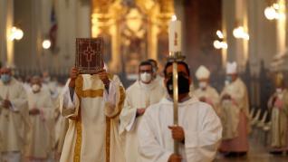 El nuevo arzobispo de Zaragoza Carlos Escribano ha garantizado el apoyo de la Iglesia en la lucha contra la covid.
