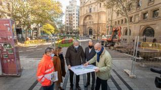 Arrancan las obras de reforma de la plaza de Santa Engracia en Zaragoza