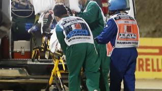 Grosjean salva la vida de milagro tras un brutal accidente en el GP de Baréin