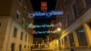 Teruel se ilumina para la Navidad.