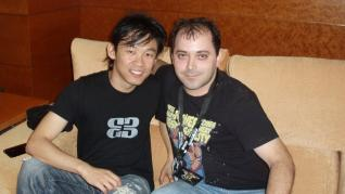 Carlos Gallego con James Wan, director de 'Insidious the conjuring' y 'Fast and Furious 7'.