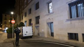 Traslado de los tres menores acusados de violar a una chica en Teruel