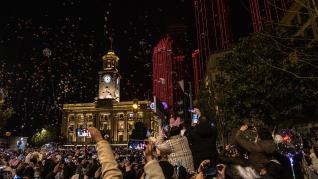 Celebraciones de fin de año en la localidad china de Wuhan, donde se fija el origen de la pandemia.