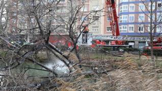 Importante despliegue de los Bomberos de Zaragoza