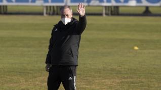 Nuevo entrenamiento del Real Zaragoza en la Ciudad Deportiva de la capital