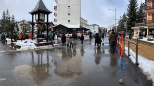 Protestas del sector de la nieve en el valle de Tena