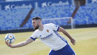 Presentación del nuevo defensa central del Real Zaragoza Mathieu Peybernes