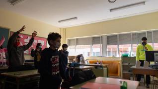 El colegio Ricardo Mallén de Calamocha, en plena ola de frío.