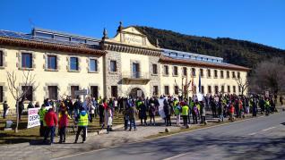 Movilización en Aínsa y Boltaña.