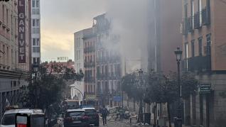 fuerte explosión en Madrid