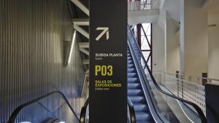 Zaragoza_IAACC_escalator sign