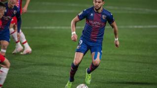 Rafa Mir, en el partido de la SD Huesca contra el Granada.