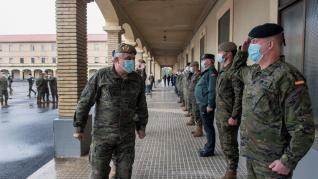 Presentación del cuartel general de la División Castillejos
