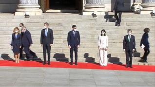 El Rey llega al Congreso de los Diputados para la conmemoración del 40 aniversario del 23-F