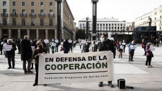 Protesta de la Federación Aragonesa de Solidaridad