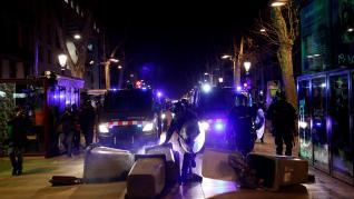 Manifestación en Barcelona en apoyo a Hasel concluye con diversos incidentes
