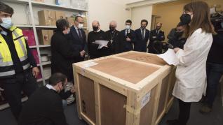 Llegada de la tercera entrega de los bienes al Museo de Barbastro