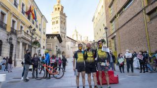 Los atletas de la Ruta por la Dignidad llegan a Teruel