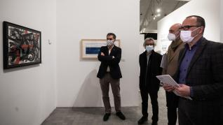 Presentación de la exposición a beneficio de Aspanoa en el Pablo Serrano